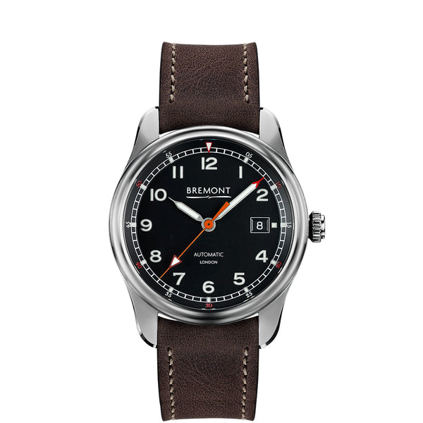 Bremont Airco Mach 1 Black Dial & Brown Leather Strap 40mm AIRCO MACH 1/BK Face