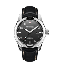 Bremont Solo Polished Black 43mm SOLO/PB Face