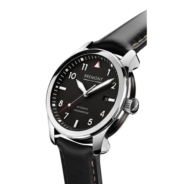 Bremont Solo Polished Black 43mm SOLO/PB Crown
