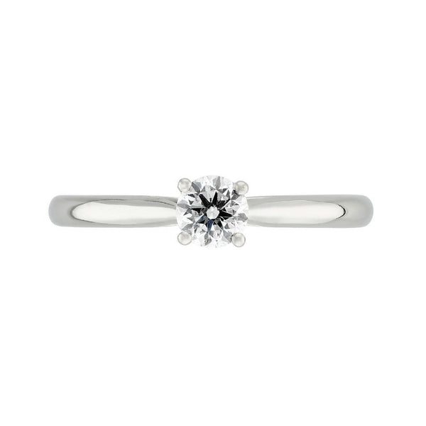 Burrells Platinum 0.40ct Round Diamond Solitaire Ring