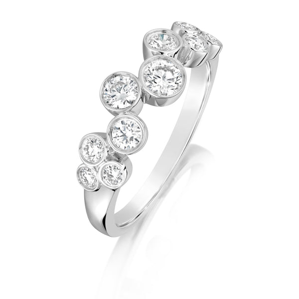 Burrells 18ct White Gold 0.65ct Diamond Scattered Ring