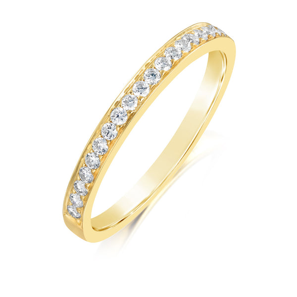 Burrells 18ct Yellow Gold 0.22ct Round Brilliant Cut Diamond Half Eternity Ring