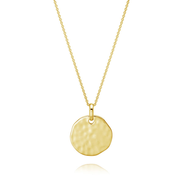 Burrells Andi Medium Textured Disc Pendant VJP9624 YGP