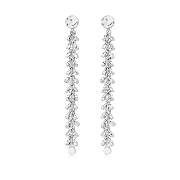 Burrells Andi Multi Disc Drop Earrings VJE10322 SIL