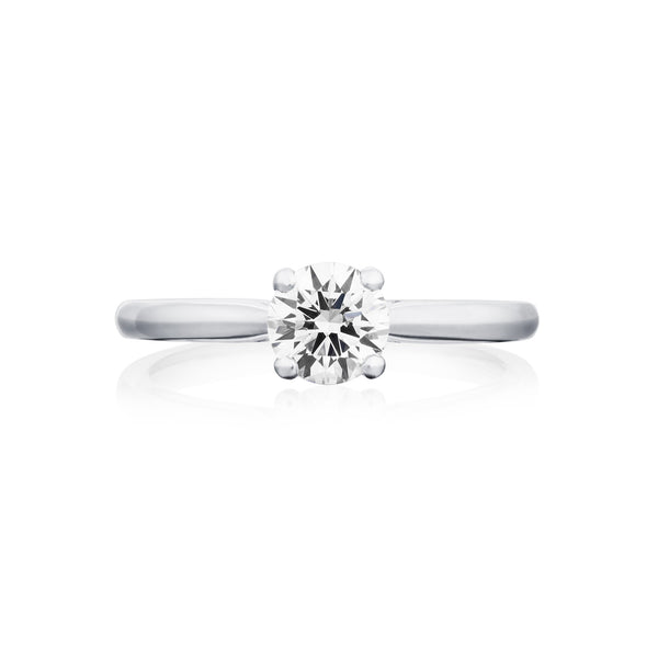 Burrells Platinum 0.70ct GSI2 Certified Round Brilliant Cut Diamond Solitaire Ring