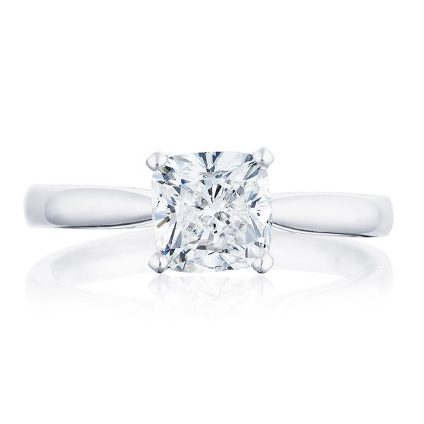 Burrells Platinum 1.50ct GSI1 Certified Cushion Cut Diamond Solitaire Ring