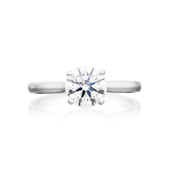 Burrells Platinum 1.56ct HSI2 Certified Round Brilliant Cut Diamond Solitaire Ring