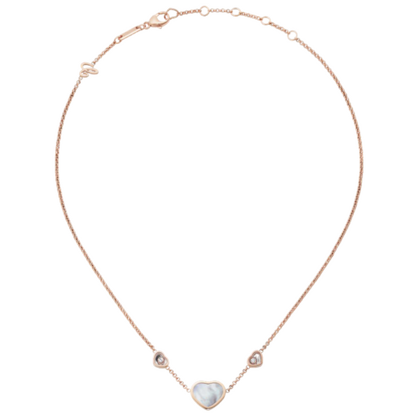 Chopard Happy Hearts 18ct Rose Gold Mother Of Pearl Necklace 81A082-5301