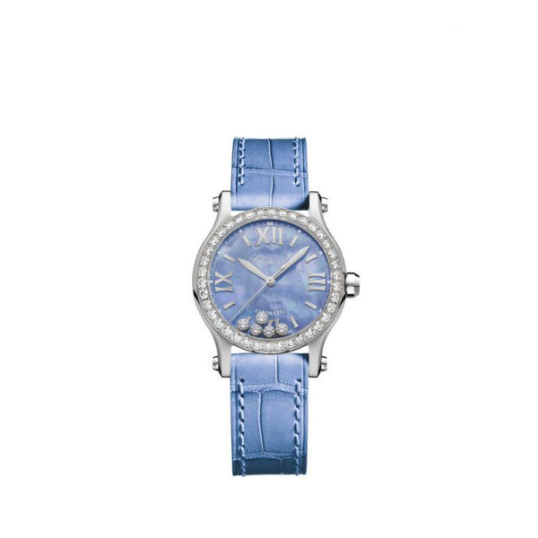 Chopard Happy Sport Automatic Blue Ladies Watch 30mm