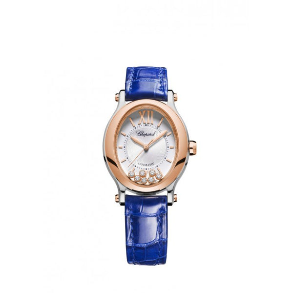 Chopard Happy Sport Oval Blue Ladies Watch 31.31 x 29.00mm