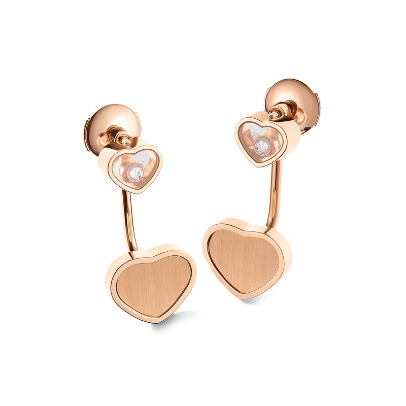 Chopard Limited Edition James Bond 007 Happy Hearts - Golden Hearts Earrings 83A007-5021 angle