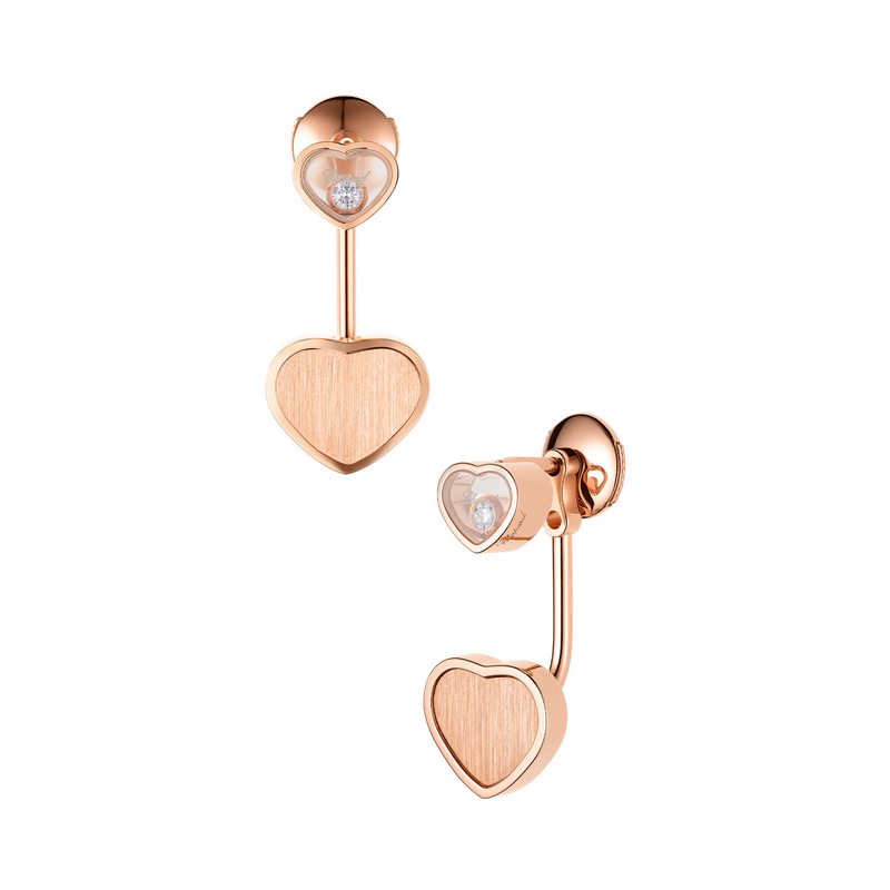 Chopard Limited Edition James Bond 007 Happy Hearts - Golden Hearts Earrings 83A007-5021 Side
