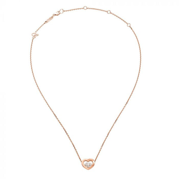 Chopard Happy Diamonds Icons 18ct Rose Gold Necklace 81A611-5001