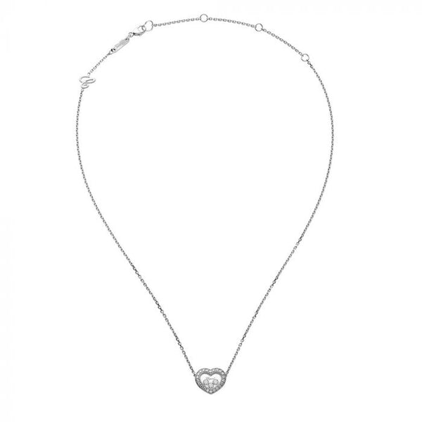 Chopard Happy Diamonds Icons 18ct White Gold Necklace 81A054-1201