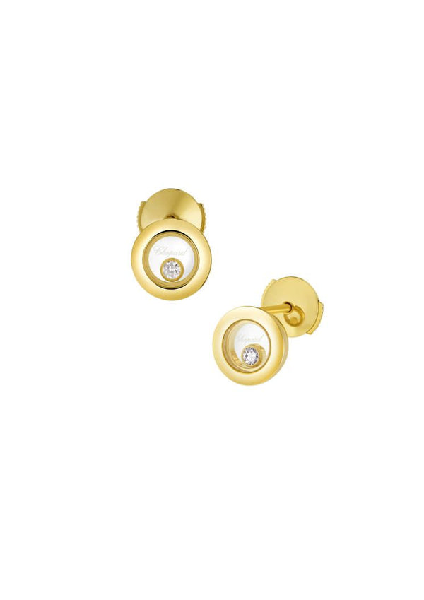 Chopard Happy Icons 18ct Yellow Gold Diamond Earrings 83A017-0001