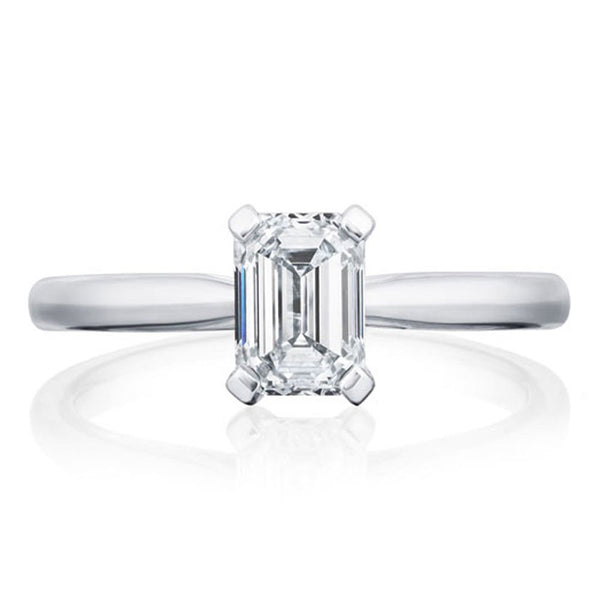 Platinum 1.01ct Emerald Cut Diamond Solitaire Ring