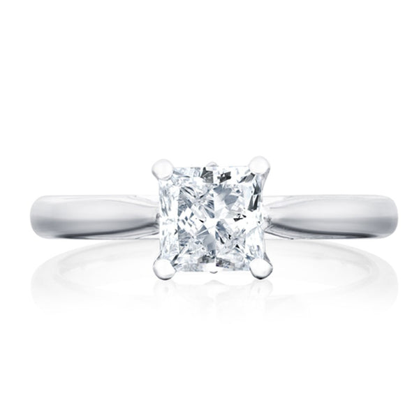Platinum 1.51ct GSI1 Certified Princess Cut Diamond Solitaire Ring