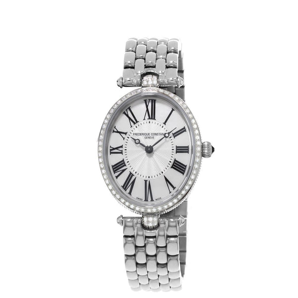 Frederique Constant Classics Art Deco Diamonds and Steel 30x25mm FC-200MPW2VD6B