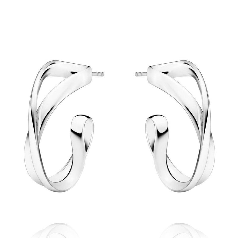 Georg Jensen Infinity Earhoops - Sterling Silver, Small