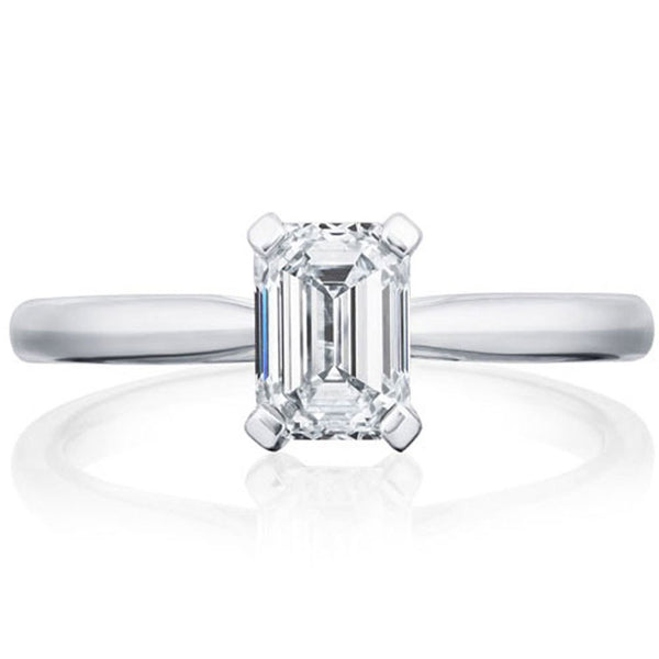 Platinum 1.81ct GSI1 Certified Emerald Cut Diamond Solitaire Ring