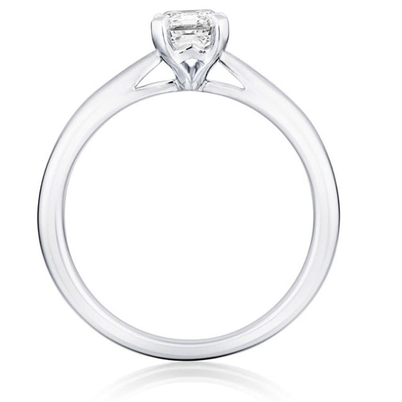 Burrells Platinum 1.80ct GSI1 Certified Emerald Cut Diamond Solitaire Ring