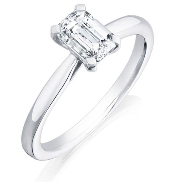 Burrells Platinum 1.63ct HVS2 Certified Emerald Cut Diamond Solitaire Ring