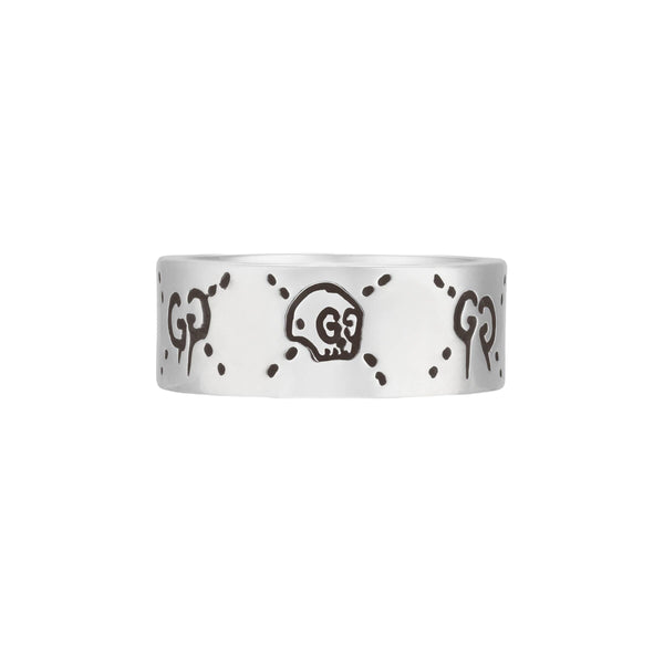 Gucci Ghost Skull Sterling Silver Ring YBC455318001