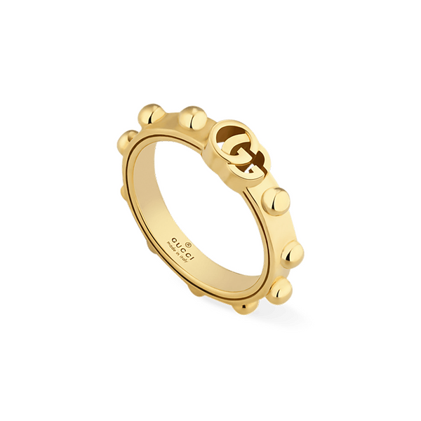 Gucci Running G 18ct Yellow Gold Ring YBC5546430010