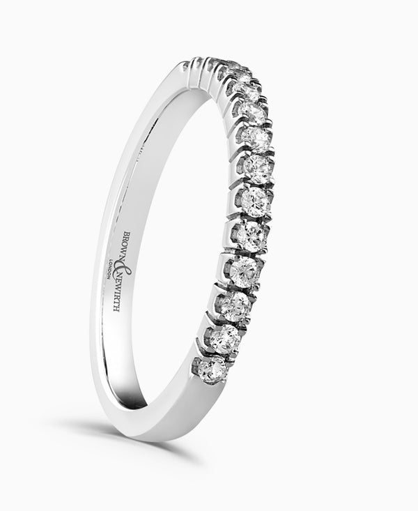 Brown & Newirth Exquisite Platinum 0.25ct Diamond Half Eternity Ring