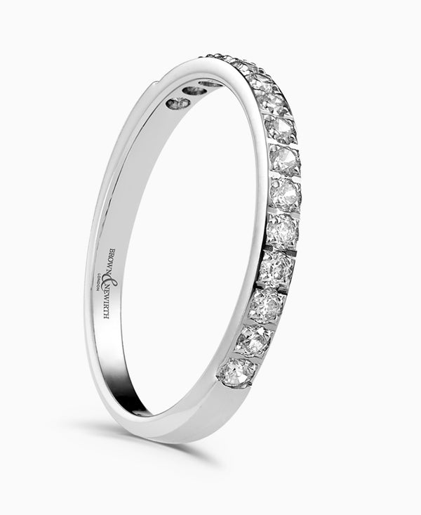 Brown & Newirth Dazzle Platinum 0.50ct Diamond Half Eternity Ring