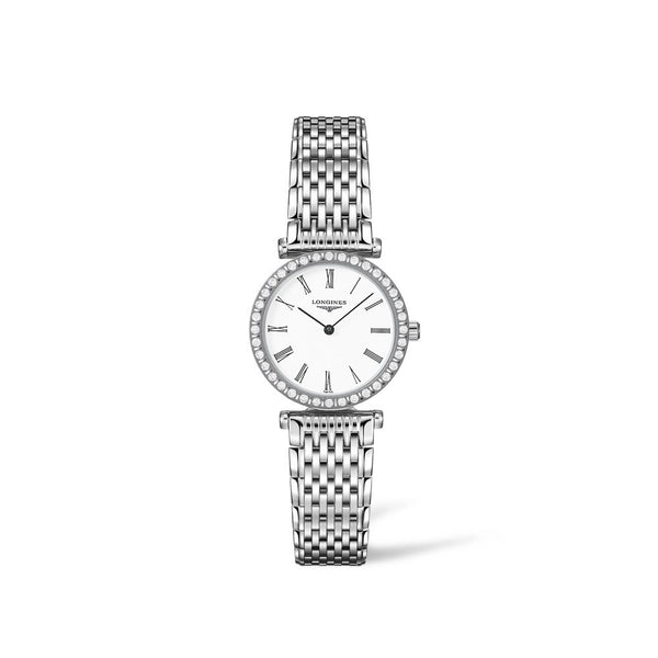 Longines La Grande Classique White Dial With Diamonds & Steel Bracelet 24mm