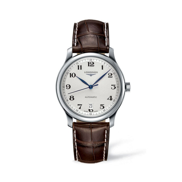 Longines Master Collection Silver Dial & Brown Leather 38.5mm