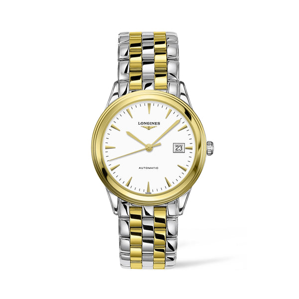 Longines yellow gold and steel unisex watch