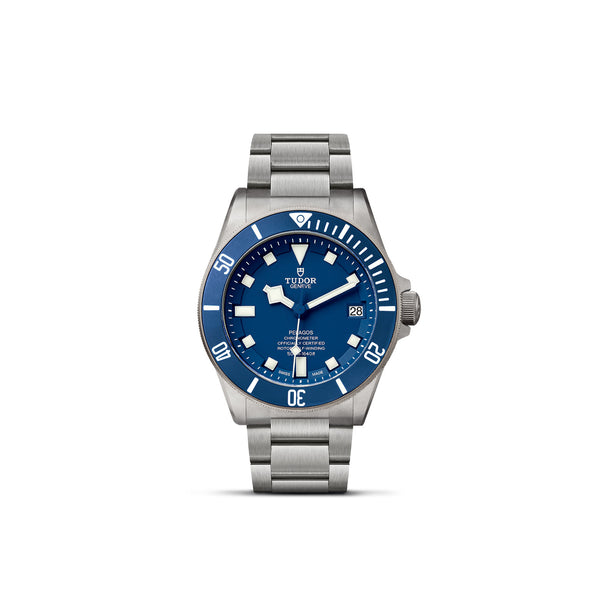 Tudor Pelagos Watch Blue Dial & Titanium Bracelet 42mm M25600TB-0001 Face