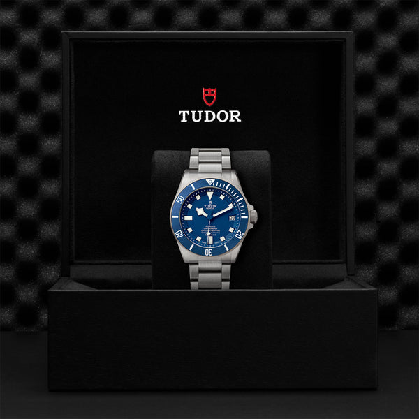 Tudor Pelagos Watch Blue Dial & Titanium Bracelet 42mm M25600TB-0001 Presentation Box