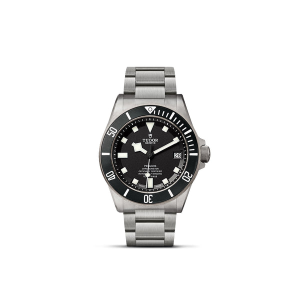 Tudor Pelagos Watch Black Dial & Titanium Bracelet 42mm M25600TN-0001 Face