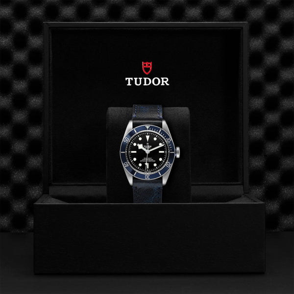 Tudor Black Bay Watch Blue Bezel & Leather Strap 41mm M79230B-0007 Presentation Box
