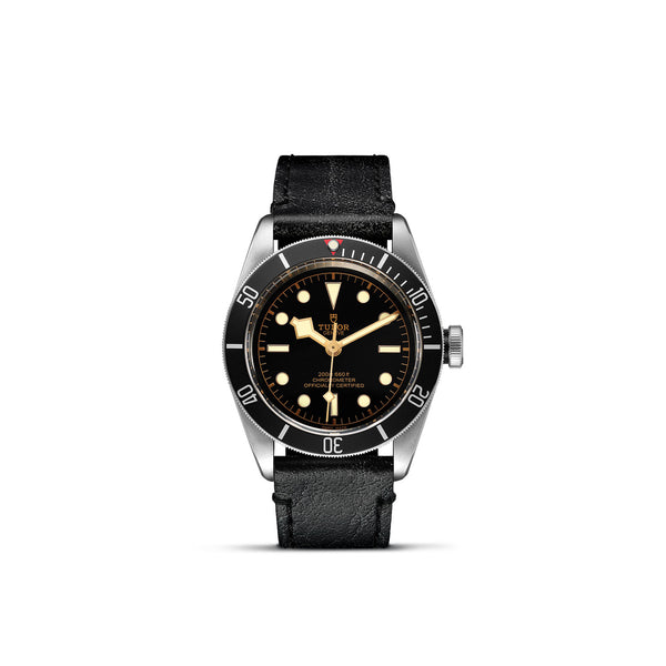 Tudor Black Bay Watch Black Bezel & Leather Bracelet 41mm M79230N-0008 Face