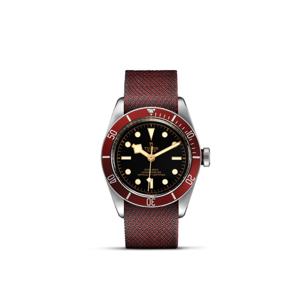 Tudor Black Bay Watch Burgundy Bezel & Fabric Strap 41mm M79230R-0009 Face