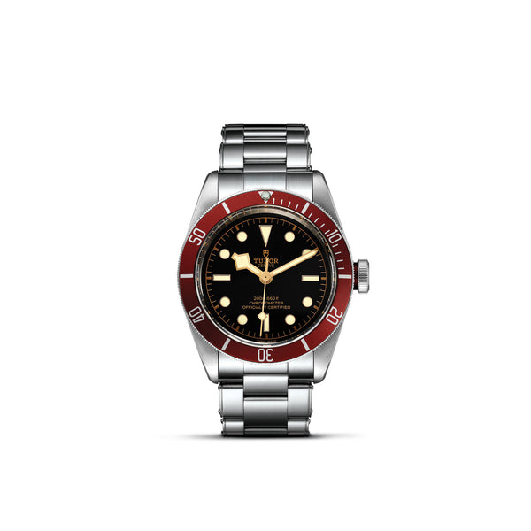 Tudor Black Bay Watch Burgundy Bezel & Steel Bracelet 41mm M79230R-0012 Face