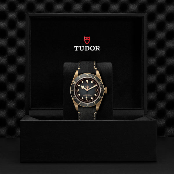 Tudor Black Bay Bronze Slate-Grey Leather Strap 43mm M79250BA-0001 Presentation Box