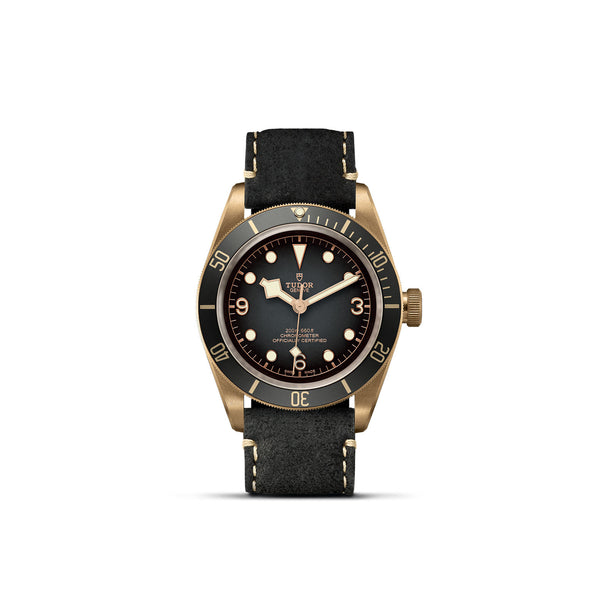 Tudor Black Bay Bronze Slate-Grey Leather Strap 43mm M79250BA-0001 Face
