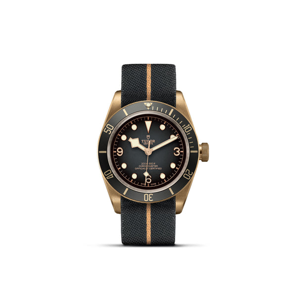 Tudor Black Bay Bronze Slate-Grey Fabric Strap 43mm M79250BA-0002 Face