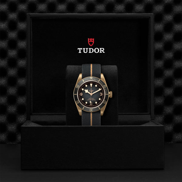 Tudor Black Bay Bronze Slate-Grey Fabric Strap 43mm M79250BA-0002 Presentation Box