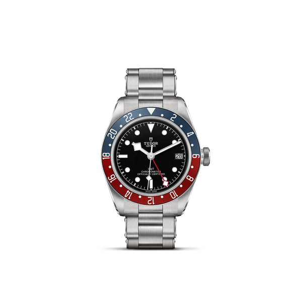 Tudor Black Bay GMT Watch Steel Bracelet 41mm M79830RB-0001