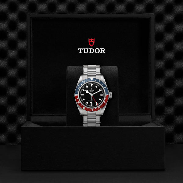 Tudor Black Bay GMT Watch Steel Bracelet 41mm M79830RB-0001 Presentation Box