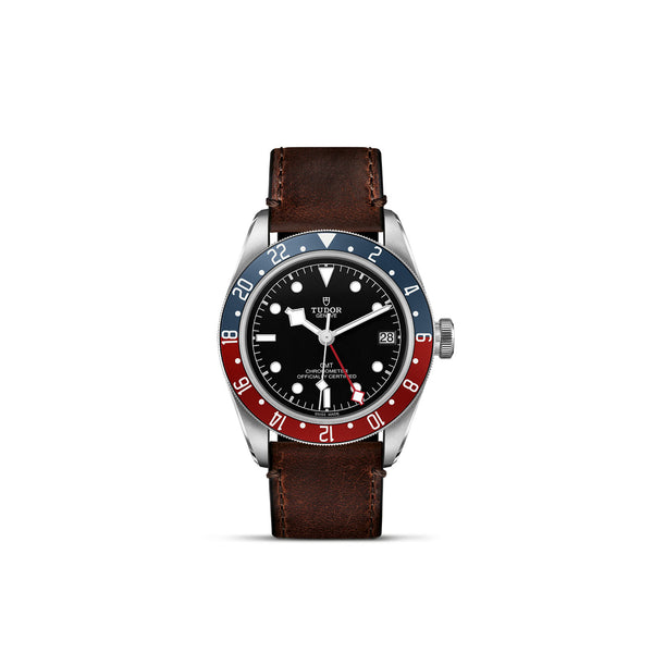 Tudor Black Bay GMT Watch Leather Strap 41mm M79830RB-0002