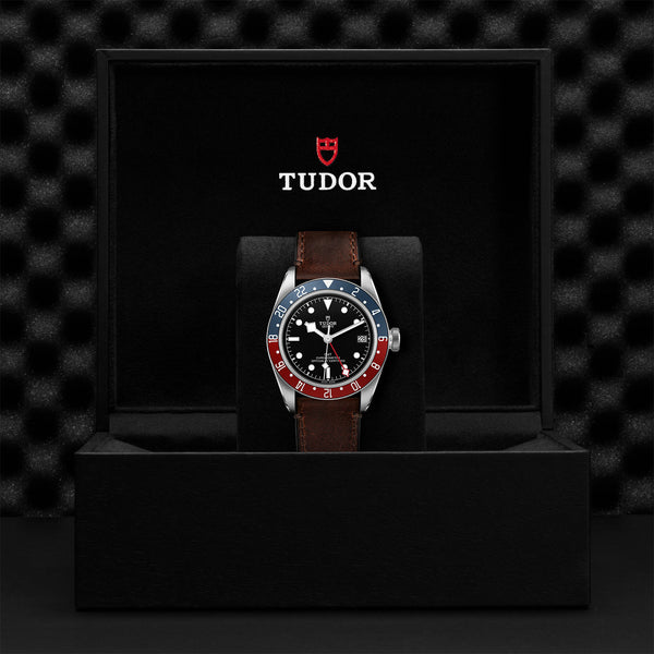 Tudor Black Bay GMT Watch Leather Strap 41mm M79830RB-0002 Presentation Box