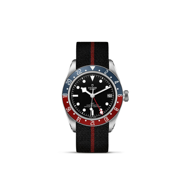 Tudor Black Bay GMT Watch Fabric Strap 41mm M79830RB-0003