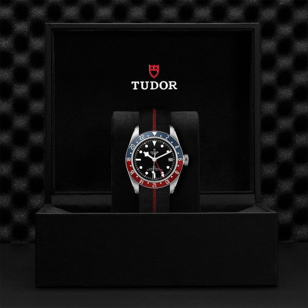 Tudor Black Bay GMT Watch Fabric Strap 41mm M79830RB-0003 Presentation Box